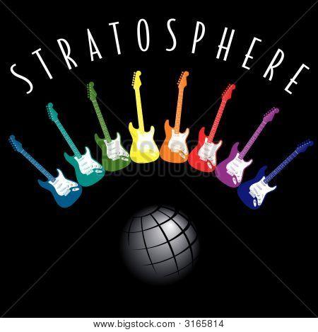 Elétrico-guitarra-estratosfera