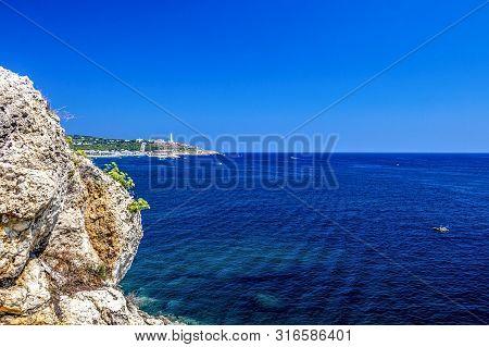 Santa Maria Di Leuca Summer Sea View From Punta Ristola, Province Of Lecce, Apulia, Italy