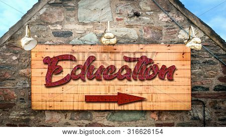 Street Sign To Education