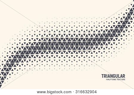 Triangular Shapes Vector Abstract Geometric Technology Oscillation Wave Isolated On Light Background