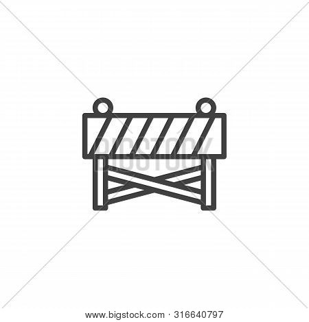 Construction Barrier Line Icon. Linear Style Sign For Mobile Concept And Web Design. Construction Ba