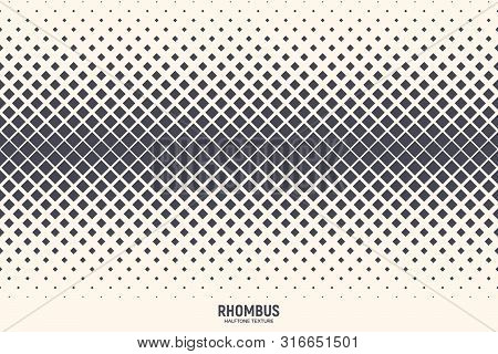 Rhombus Particles Vector Abstract Geometric Technology Extreme Sports Background. Halftone Rhomboid