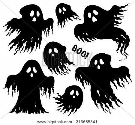 Ghosts Thematic Set 6 - Eps10 Vector Picture Illustration.