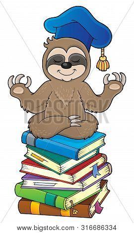 Sloth Teacher Theme Image 3 - Eps10 Vector Picture Illustration.