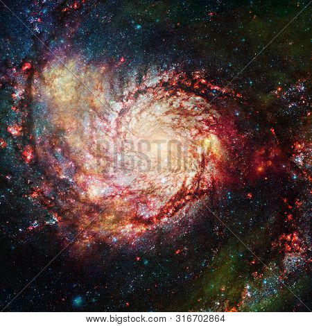 Awesome Beauty Of Starfield Somewhere In Deep Space. Elements Of This Image Furnished By Nasa