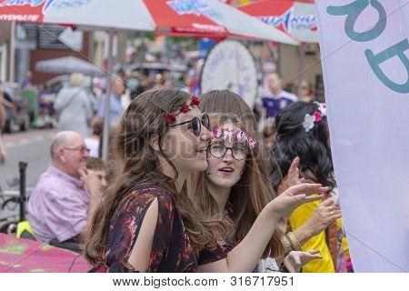 Sint Gillis Waas, Belgium, August 3, 2019, Remember Woodstock Festival, Love, Peace And Understandin