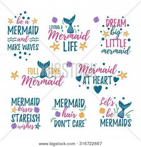 Mermaid Quotes Set Vector & Photo (Free Trial) | Bigstock