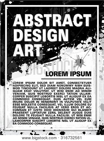 Abstract Design Art. Abstract Poster, Flyer, Brochure Or Banner. Vector And Illustration.