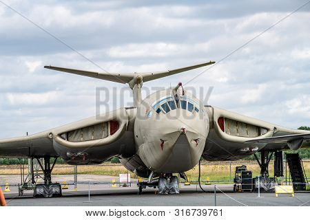 York, Uk - 6th August 2019: Handley Page Victor K.2 Tanker On Display At Yorkshire Air Museum
