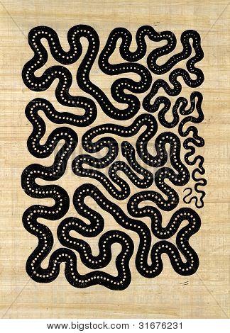 Symbolic Snake Pattern