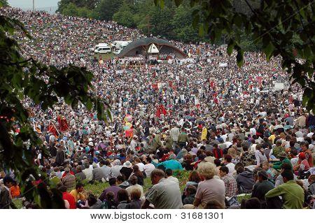 Hungarian pilgrims gather to celebrate the Pentecost and the catholic pilgrimage