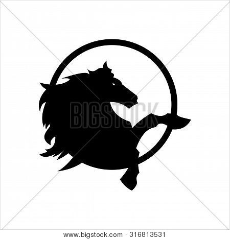 Horse Logo Icon. Isolated Against A White Background. Horse Icon In A Trendy Design Style.