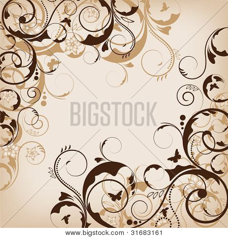Abstract Vector Flower Design