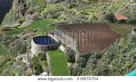 Cistern In A Valley At San Bartolome Tirajana On Gran Canaria - Spain