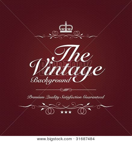 Red Vintage Background With Special Text
