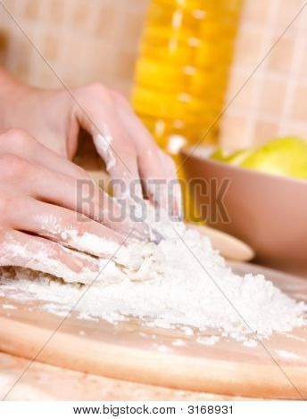 Woman Making Cake