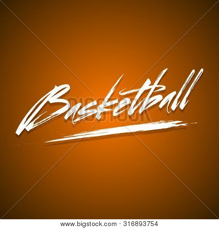 Basketball Design Template. Basketball Poster Invitation. Banner The Abstract Inscription Basketball