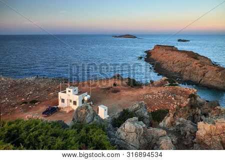 View To The House Of Workers Of The Coastline And Kleides Islands. Afroditi Akraia. Dipcarpaz, Natio