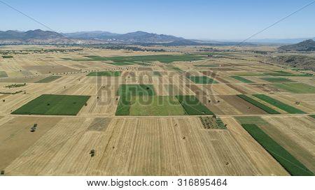 Rural Farmland, Large Fields And Development Plan