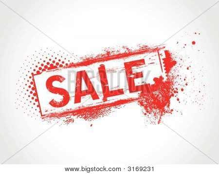 this is a grunge sale tag illustration poster