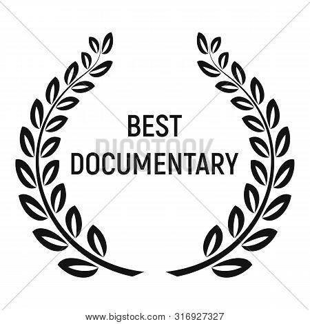 Best Documentary Award Icon. Simple Illustration Of Best Documentary Award Vector Icon For Web Desig