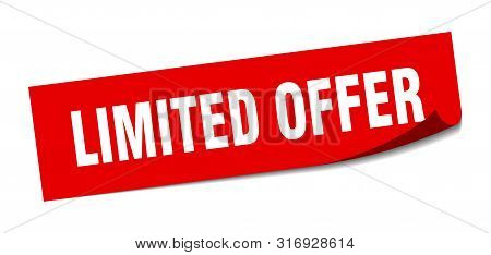 Limited Offer Sticker. Limited Offer Square Isolated Sign. Limited Offer