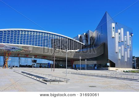 MALAGA, SPAIN - MARCH 13: Trade Fair and Congress Center on March 13, 2012 in Malaga, Spain. This building has a total area of 60,000 m2, of which 17,000 m2 are dedicated to exhibition area