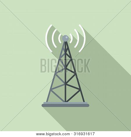 Gsm Tower Icon. Flat Illustration Of Gsm Tower Vector Icon For Web Design