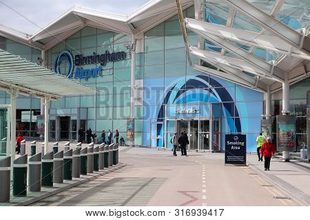 Birmingham, Uk - April 19, 2013: Travelers Visit Birmingham International Airport, Uk. With 8.9 Mill