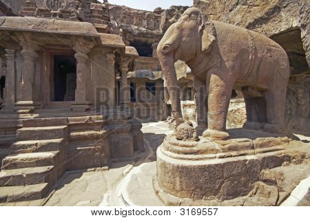 Ancient Jain Temple, Ellora, India