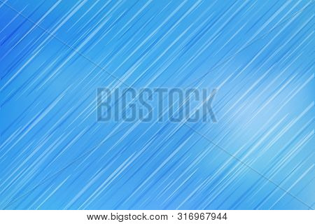 Blue Gradient Background With Rain Effect Graphic Vector Design. Variable Color Diagonal Lines Textu