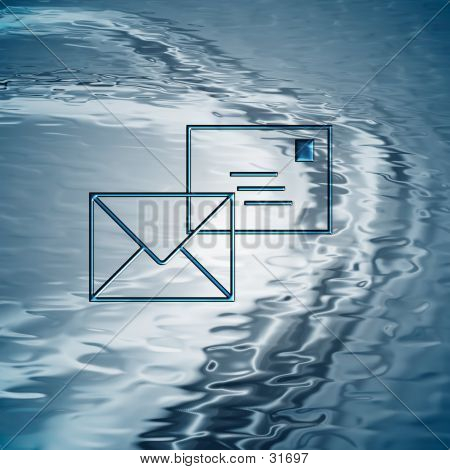 Background With Mail Symbol