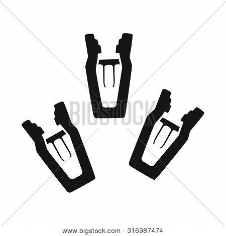 Isolated Object Of Peg And Clothespin Icon. Collection Of Peg And Hanger Vector Icon For Stock.