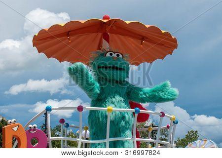 Orlando, Florida. August 07, 2019. Rosita In Sesame Street At Seaworld.