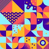 Vintage retro bauhaus style vector pattern poster