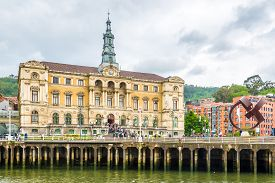 Bilbao,spain - May 17,2019 - View At The City Hall Of Bilbao. Bilbao Is A City In Northern Spain, Th