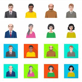 Isolated Object Of Hairstyle And Profession Sign. Collection Of Hairstyle And Character Vector Icon