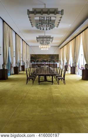 Ho Chi Minh, Vietnam - 22/2/2016: Reception Room At The Reunification Palace, Previously The Indepen
