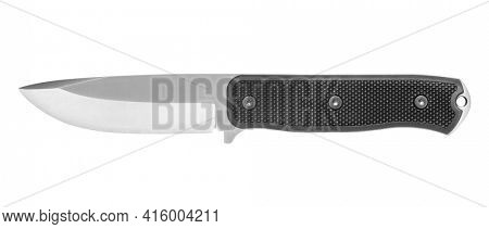 Outdoor knife isolated on white background, including clipping path