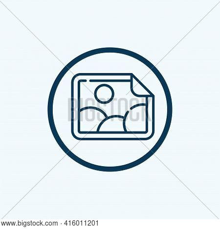 Photo Icon Isolated On White Background From Fame Collection. Photo Icon Thin Line Outline Linear Ph