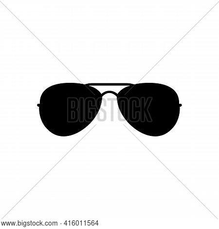 Black Icon Sunglasses Sign. Vector Illustration Eps 10.