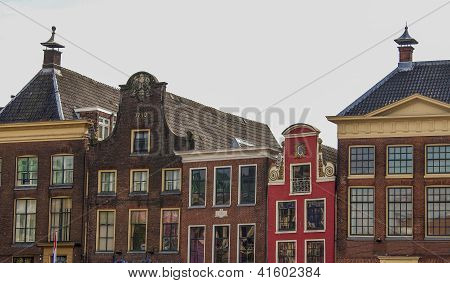 Old Step Gable Roofs In Groningen, The Netherlands