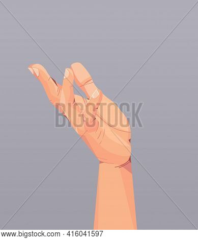 Human Hand Showing Gesture Communication Language Gesturing Concept Vertical