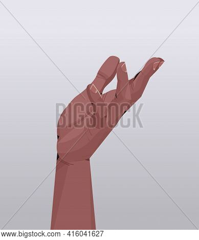 African American Human Hand Showing Gesture Communication Language Gesturing Concept