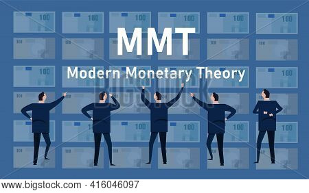 Mmt Modern Monetary Theory Concept Of Printing Money Without Risk Of Inflation Economics Dollar Glob