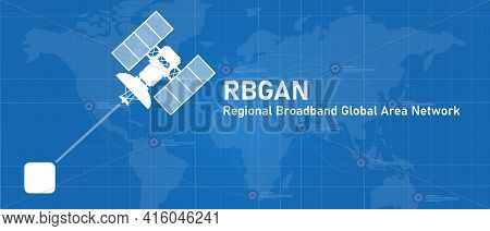Bgan Regional Broadband Global Area Network Line Of Sight Internet Connection With Satellite