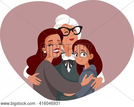 Grandmother, Mother And Daughter In Multi-generational Family Portrait