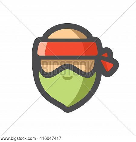 Robber Men Masked Criminal Vector Icon Cartoon Illustration