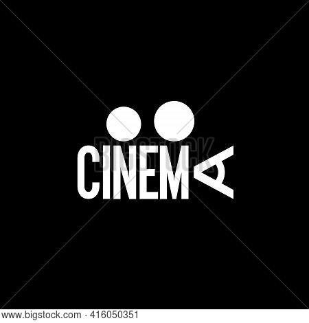 Cinema Wordmark Concept Vector Text Symbol For Any Purpose.