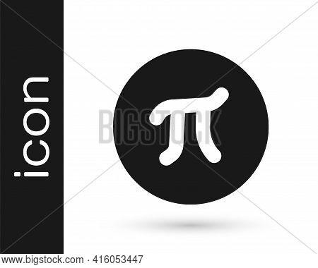 Black Pi Symbol Icon Isolated On White Background. Vector